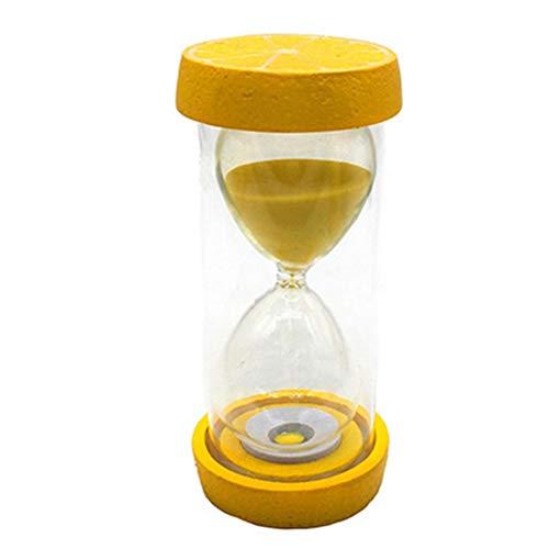 WSHLU Clessidra Timer, Timer di Sabbia per I Bambini di Sicurezza Anticaduta in Plastica di Frutta Clessidra per I Regali Creativi E Resina Tatuaggi,Lemon,15min