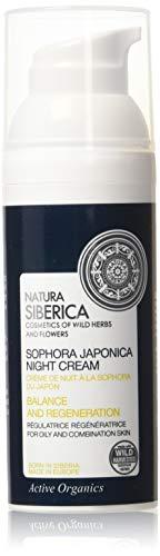 Natura Siberica Crema Notte Viso Sophora Japonica, Equilibrio e Rigeneraz - 50 ml
