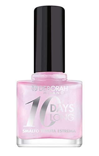 Deborah Smalto 10 Days Long N.849 Pink, Tenuta fino a 10 giorni senza ritocco o lampada UV, per unghie nutrite e luminose