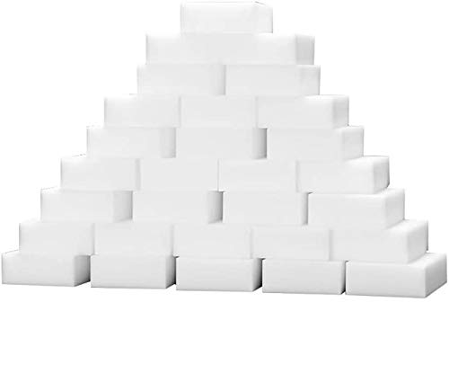 LKHF Magic Sponge Sponges 100 Pack Cleaning Melamina Foam Eraser Stain Remover