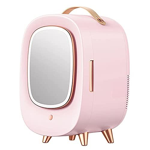 HYLK MakeupSkincare Fridge 13 LiterPortable Compact Cooler Mirror e LED Lighting Design Mini frigoriferoper Bellezza, Makeup, Dormitorio, Maschere facciali, Rossetti a