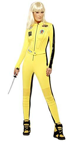 SMIFFYS Smiffy's Licenza ufficiale Disfraz de Kill Bill Vol.1 & Vol.2, Amarillo, con traje entero y espada Donna, Giallo, M-EU Dimensione 40-42, 20500M