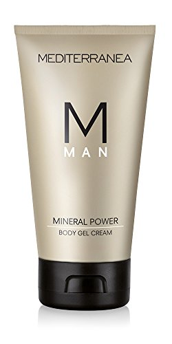 Mediterranea Linea Man - Gel Corpo Idratante e Tonificante con Silicio e Caffeina - Rigenerante e Tonificante per Donare Vigore alla Pelle - 150 ml