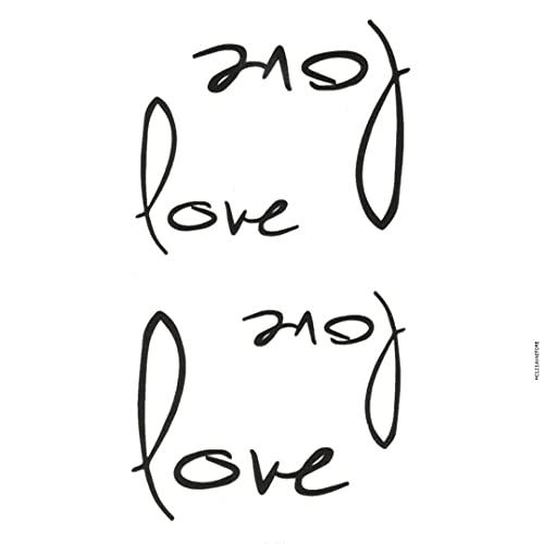 AVASTORE - Tatuaggio temporaneo da donna, scrittura, lettera 'Love', amore minimalista, tatuaggio, tatuaggio temporaneo, da donna, scrittura, lettera, amore, minimalista, tatuaggio