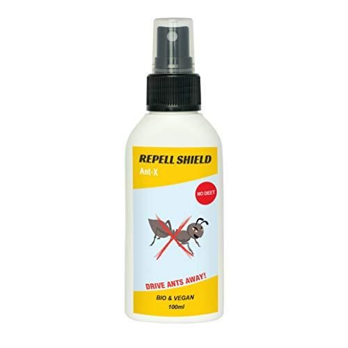REPELL SHIELD Repellente per formiche 100 ml | Disinfestazione Naturale dalle formiche I per Interni ed Esterni I Alternativa all'insetticida