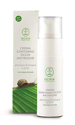 Ischia Cosmetici Naturali Crema Contorno Occhi Antirughe alla Bava di Lumaca e Q10-30 ml