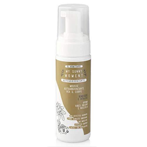 My Sunny Moment Mousse Abbronzante per Corpo alla Nocciola con Ribes Indiano Color Ambrato Ideale per Pelle Normale e Mista 150 ml