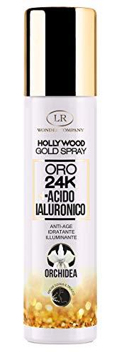 Hollywood Gold Spray, viso all'oro colloidale, antiage, idratante e illuminante con tecnologia Eco-Spray no gas (1x75ml) - LR Wonder Company