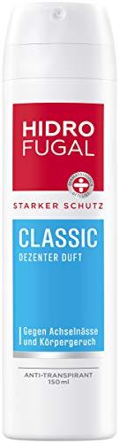 Hidrofugal, Classic Spray da 150 ml con forte protezione anti-traspirante con profumo discreto spray per una protezione affidabile senza alcol etilico, fresco, 150 ml