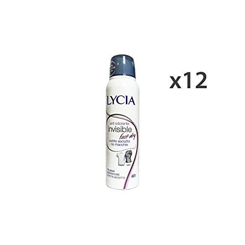 Set 12 LYCIA Deodorante Spray INVISIBLE FAST DRY 150 Ml. Cura del corpo
