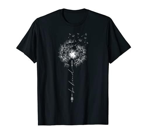 Essere gentile dolce dente di leone tatuaggio freccia respirare fiore sole Maglietta