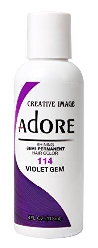 Adore tinta semipermanente per capelli, 114 viola (Violet Gem)