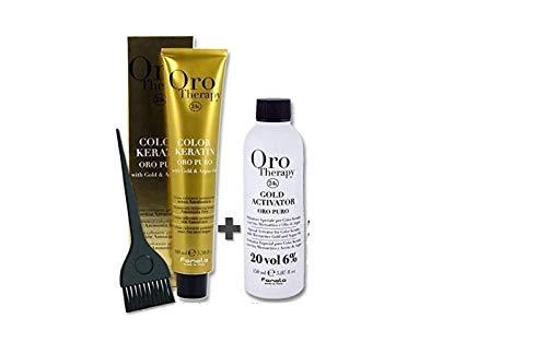 Set Colorazione Capelli 100 ml Oro Therapy + ossidante 20 volumi 150 ml+ Pennello - Fanola (9.13)