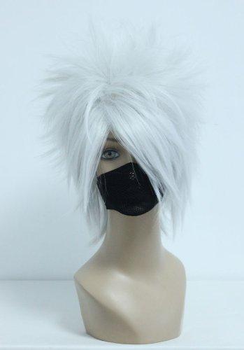 COSPLAZA Kakashi Hatake Parrucca corta per costume cosplay anime uomo ragazzo argento