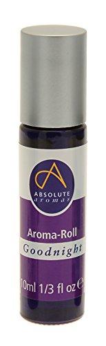 Absolute Aromas Aroma Roll-On Rullo Goodnight - Con Olio Essenziale di Lavanda Biologico Puro al 100% - Calmante e Leggero per Lenire ed Equilibrare