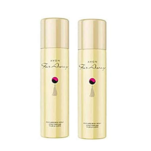 AVON COSMETICS 179374 Far Away, set deodorante, 2 spray per il corpo profumati, 75 ml (etichetta in lingua italiana non garantita)