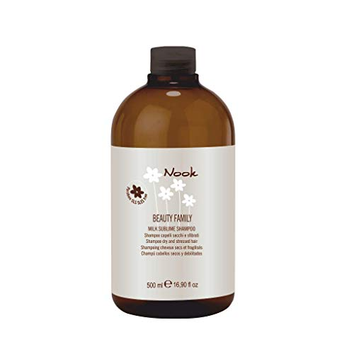 Nook Beauty Family Milk Sublime Shampoo 500 ml per asciutta e capelli geschädigtes - senza parabeni, allergeni nichel, cromo e cobalto testato