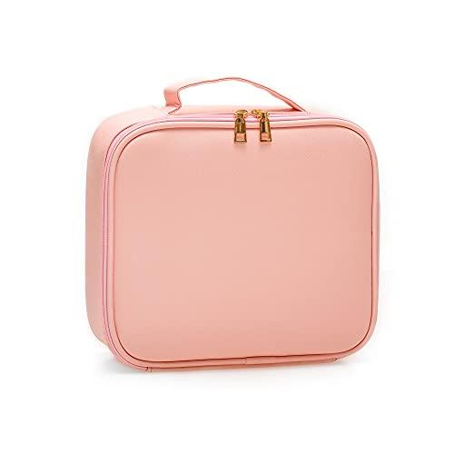 Make Up Bag Professional Beauty Case da Viaggio Makeup Astuccio per Trucco Valigetta Organizzativa Borsa Trucchi Custodia Cosmetica Impermeabile con Divisori Regolabili Pelle Sintetica PU(Rosa)
