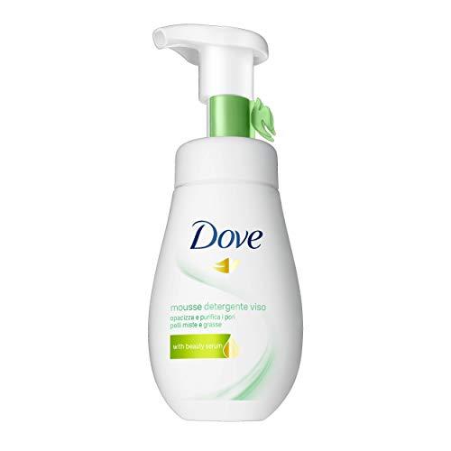 Dove Mousse Detergente Viso Purificante, per Pelli Miste e Grasse, 160 ml