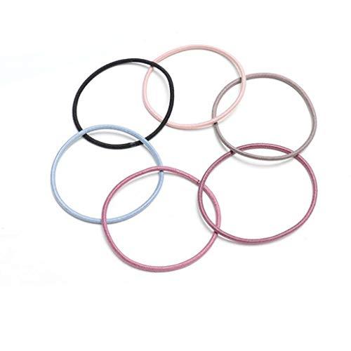 Semplice Anello Per Capelli, 6 Colori Corda Corda Corda Banda, 100 Pezzi