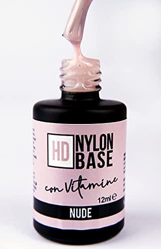 COVER NUDE - Base soak off modellante rinforzante unghie con FIBRE di Nylon, vitamine e calcio - Tecnica SEMIPERMENTE con RINFORZO -12ml | Beauty Space nails