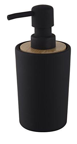 """Bisk Nice Sea Free Standing Collection - Dispenser di Sapone di Design Plain"""", Colore: Nero, Dimensioni: 7,5x 8,5x 16,5cm"""