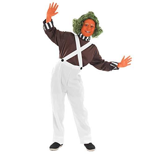 Costume per Bambini Completo da Operaio della Fabbrica di Cioccolato - Taglia L