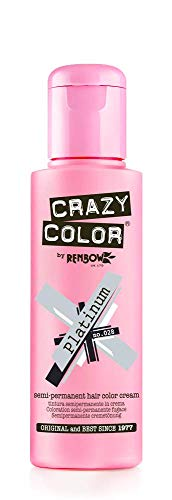 Crazy Color Crema Colorante Vegetale per Capelli, Platinum - 100 ml