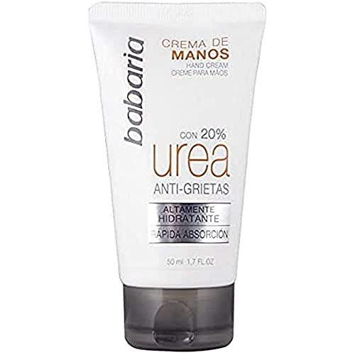 Babaria Crema Mani, Urea 20% Crema de Manos Anti-Grietas, 50 ml