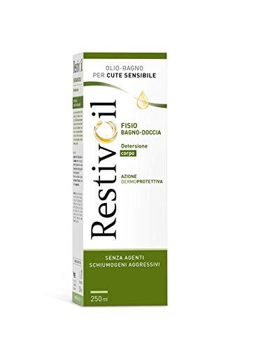 RestivOil Fisio Bagnodoccia Corpo, Olio Fisiologico con Azione Idratante, Emolliente, per Pelli Sensibili, 250 ml
