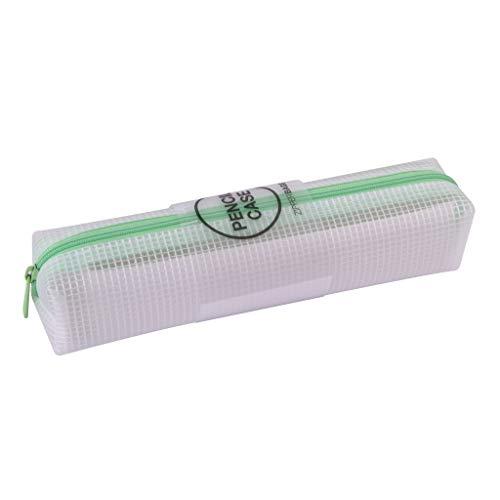 APLI - 18700, Astuccio traslucido Zipper Bag, Nordik Collection, con cerniera, colore verde Dimensioni: 210 x 45 x 45 mm