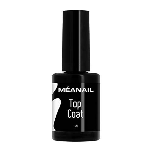 MEANAIL Top Coat Semipermanente • Unghie Gel Top Coat per Smalto Semipermanente e Gel UV • 15 Ml • Norme CE Europee