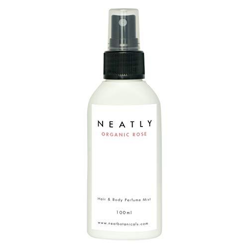 Profumo spray donna corpo e capelli NEATLY Organic Rose | 100ml | Acqua profumata idratante naturale | Con fragranza bio alle rose | Senza parabeni e additivi chimici | Cosmesi bio e vegan