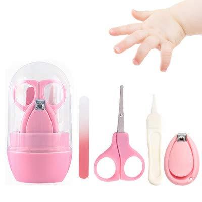 Sprießen Set Manicure per Bebe 4 in 1 con tagliaunghie, tagliaunghie, lime per unghie e pinzette, kit per la Cura del Bambino piedi per bambini e neonati