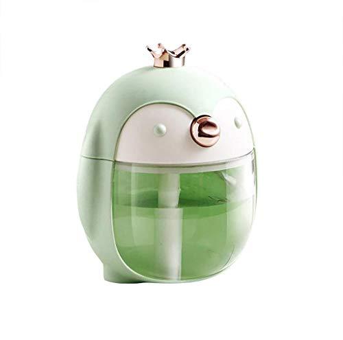 Culater Umidificatore Diffusore Di Olio Essenziale Luce Notturna Pinguini Umidificatore Regali Creativi Desktop Auto Umidificatore Usb (Green)