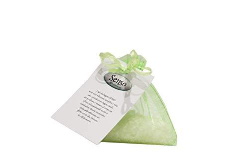 SENSO Sali da bagno profumati in sacchetti artigianali conf. 3 pz da 40 gr. con olii essenziali. Rilassanti, aromaterapia, pediluvio. Fatti a mano 100% Made in Italy (ERBE TOSCANE)