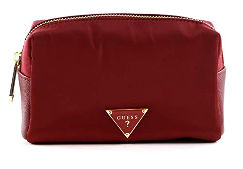 Guess Did I Say 90s? Top Zip Cosmetic Bag Burgundy