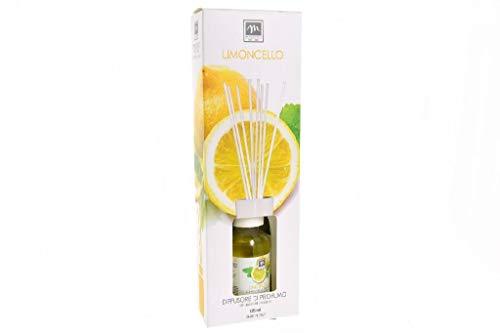 GIRM® - ME16521 Diffusore d'Essenza con Bastoncini in Cotone Aroma Limoncello ml 125