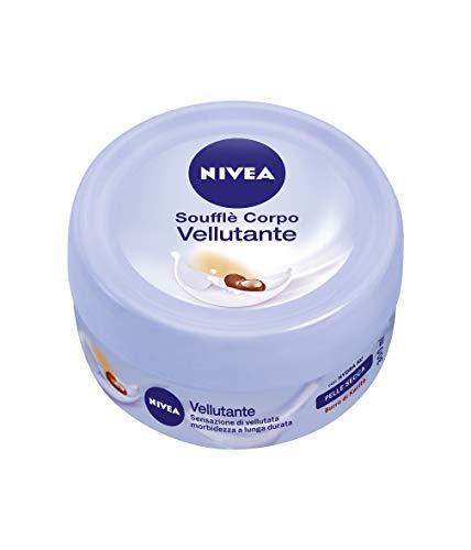 NIVEA Soufflé Corpo Vellutante (1x300ml), Crema idratante per pelle secca, Crema nutriente arricchita con NIVEA Siero Idratazione Intensa e Burro di Karité