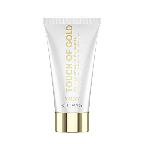 Vitabay Touch of Gold (50ml) • Crema Antietà con Oro Colloidale e Seta • Crema Viso Antirughe contro Rilassamento Cutaneo e Macchie dell'Età