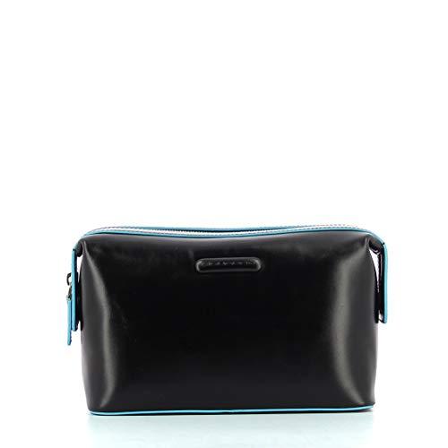 Piquadro Blue Square Beauty Case, 24 cm, Nero