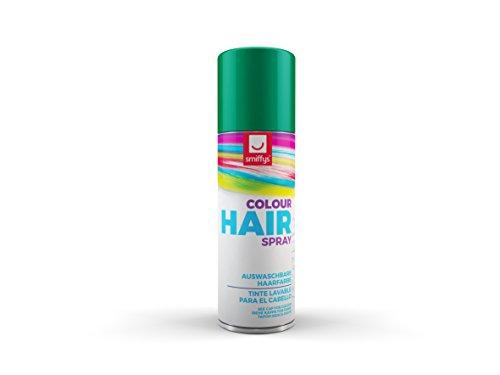 SMIFFYS Smiffy's Spray colorato per capelli, verde,125ml per Adulti, Colore dorato, GN, 052GN
