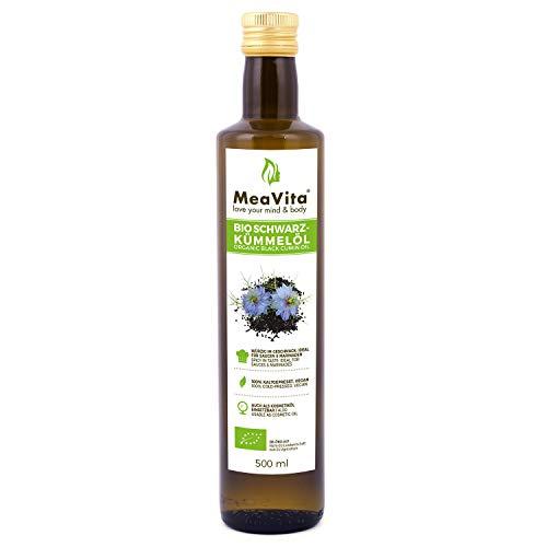 Olio di cumino nero biologico MeaVita, pressato a freddo, 1 confezione (1 x 500 ml)