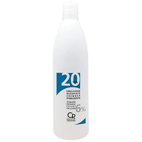 CP Professional - Emulsione Ossidante in Crema Ossigeno 20 Volumi per Capelli - Acqua Ossigenata per Colorazione Capelli - 1000 ml