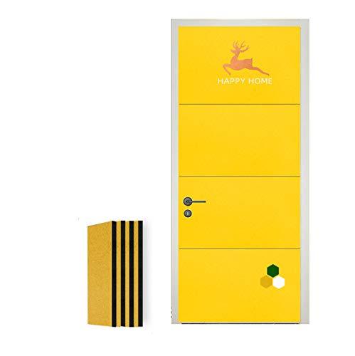 wxq Pannelli Fonoassorbenti, 50 Db di Assorbimento del Rumore Pannello di Trattamento Spugna A Cellule Chiuse Studio Dampening Foam (Color : 4 Yellow, Size : 100x50x2cm)
