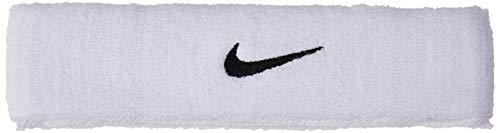 Nike Herren Stirnband Swoosh Headbands, White/Black, One Size, 9381-3