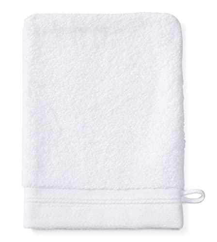 Sowel® Manopole da Bagno in 100% Cotone Biologico, Prodotto in Portogallo, 15 x 21, Bianco