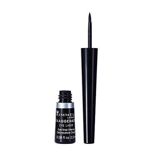 Rimmel London Eyeliner Exaggerate Liquid, Delineatore Occhi Liquido Matte, 100% Black