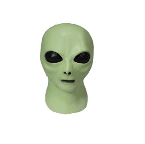 Hengyutoy Mask Alien maschera in lattice,Glow in the Dark UFO Extra-terrestre Carnevale feste Maschere Horror