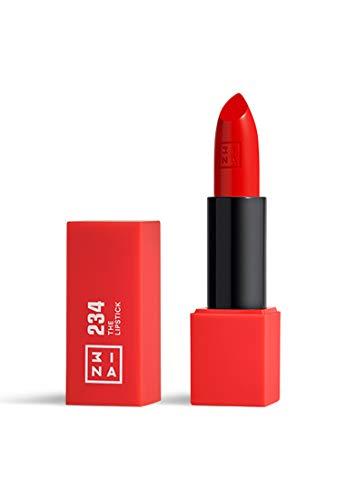 3INA MAKEUP - Vegano - Cruelty Free - The Lipstick 234 - Rosso Fresco - Rossetto Matte - 5h Lasting Lipstick - Alta Pigmentazione - Texture crème - Profumo di vaniglia e custodia magnetica